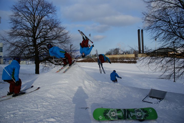 Backflip in montreal city