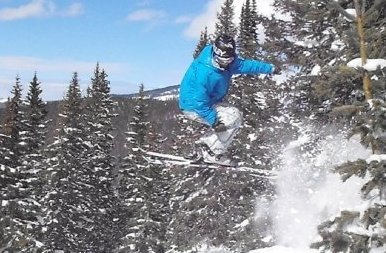 Mushy jump, Vail CO
