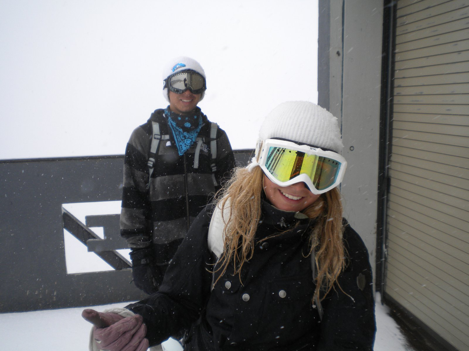 Alex and brie at palmer lift