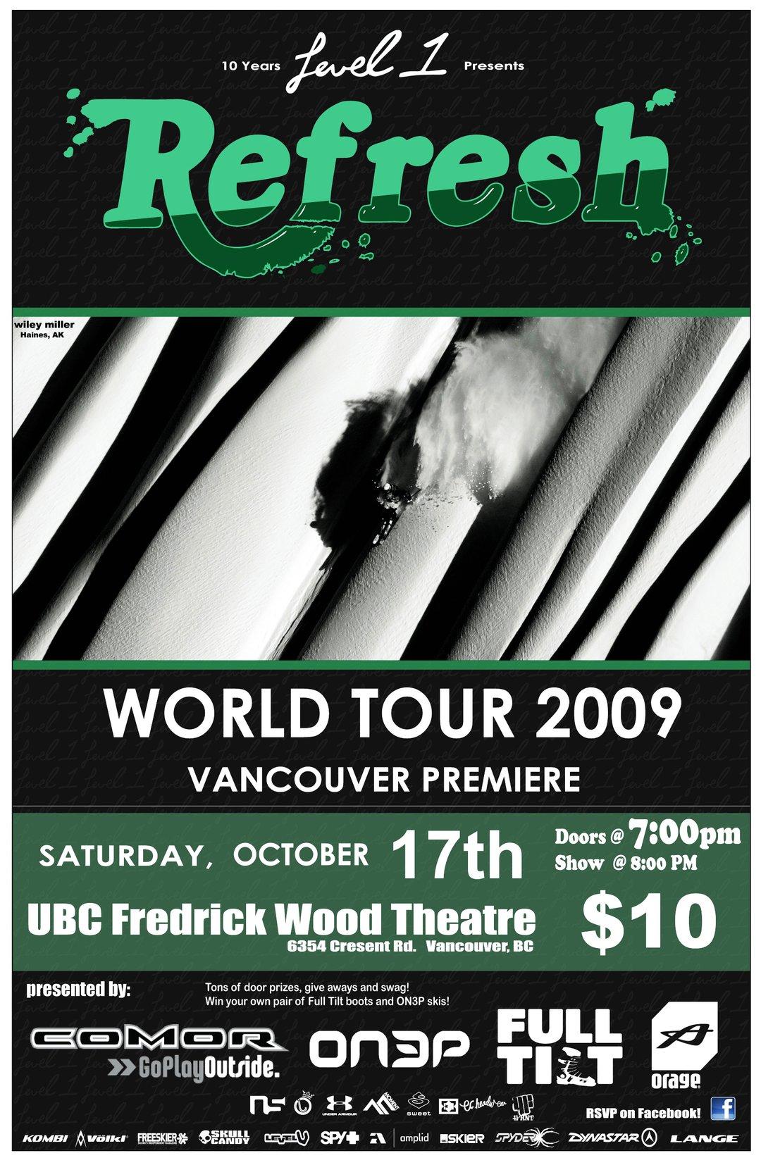 "Level 1 Productions: ""Refresh"" Vancouver Premire"