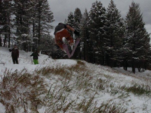 Skiing Bridger Bowl Oct 1st 2oo9