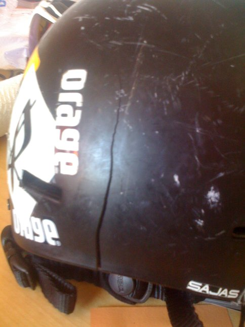 This is why you wear a helmet