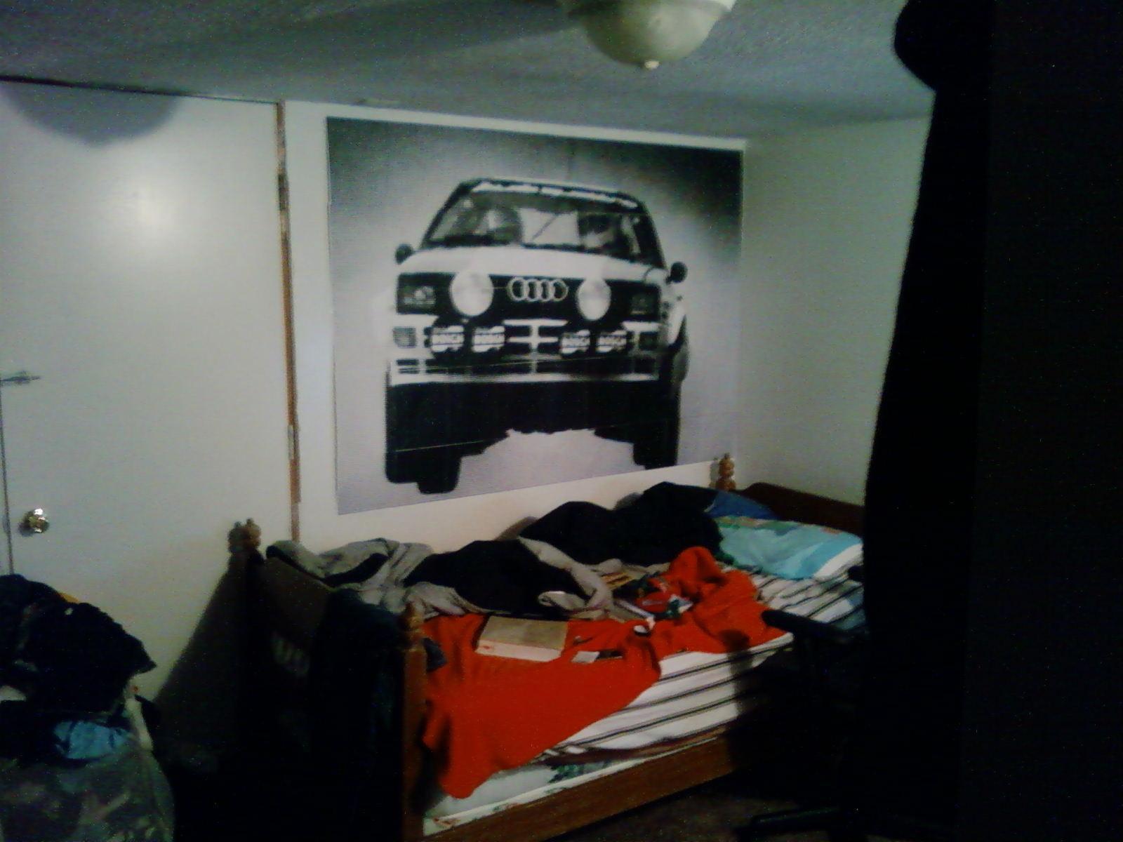 Audi rally wall poster