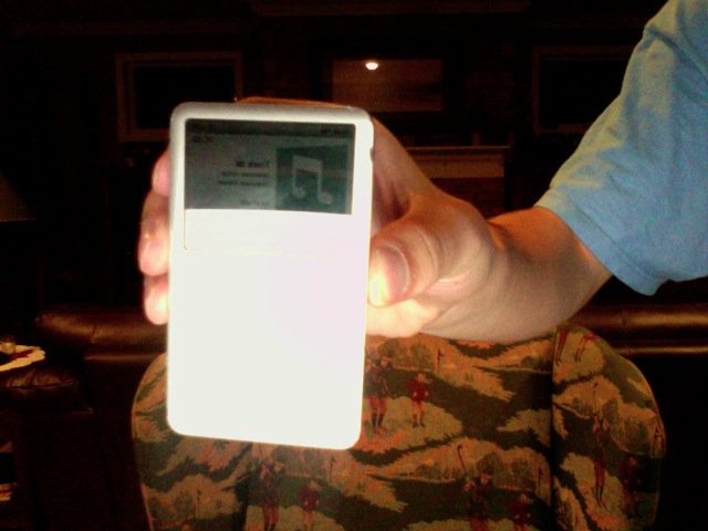 Front of ipod