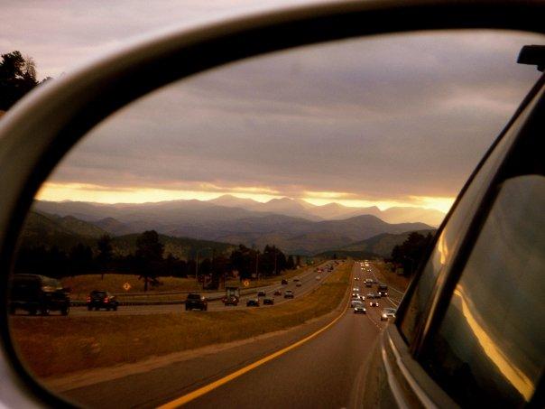 Denver bound. summit county in my rear view