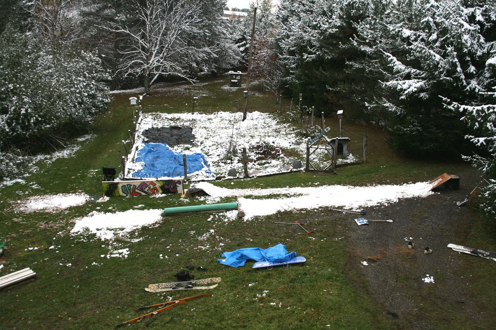 Back yard set up