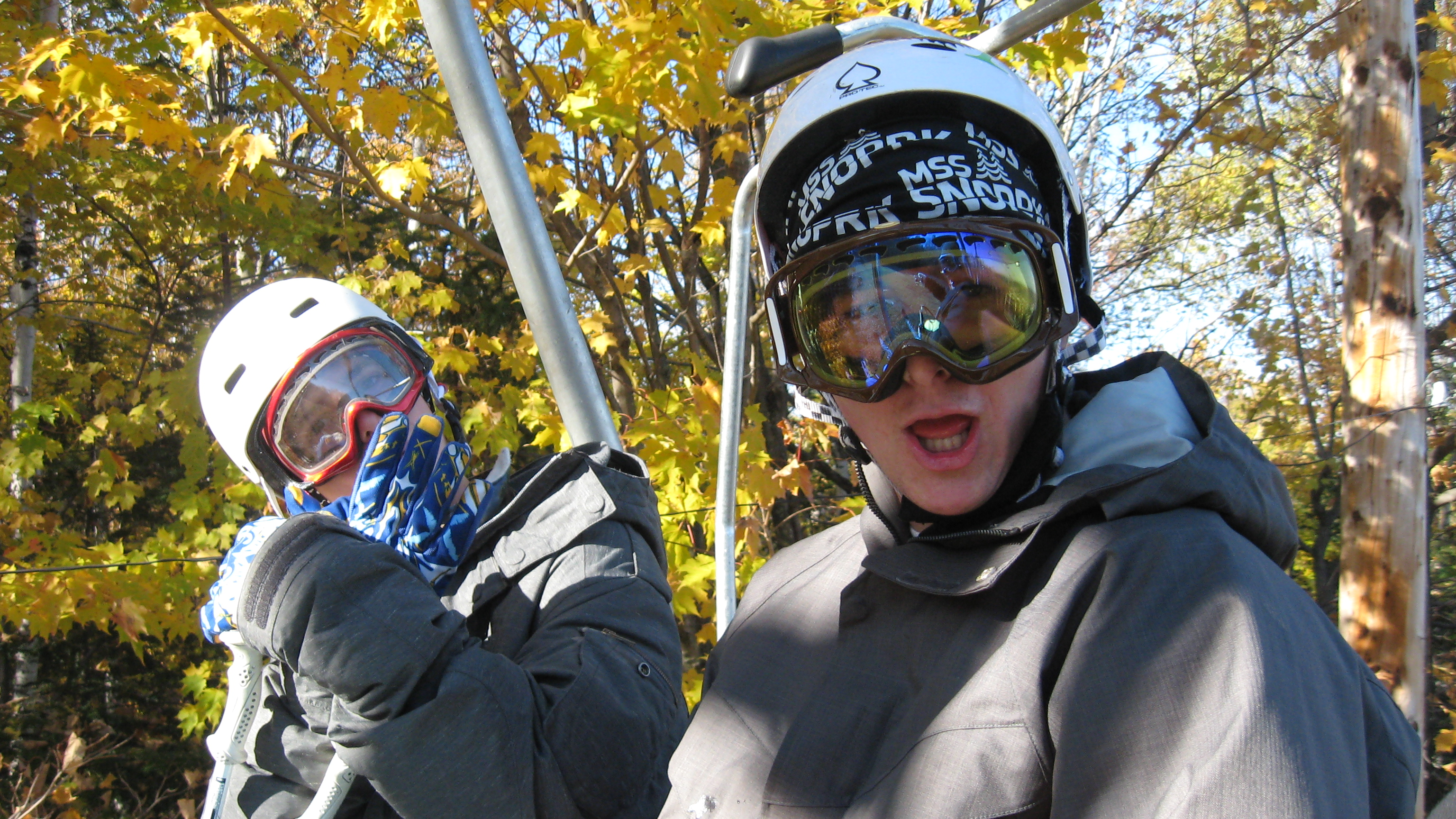 Boys in the chairlift
