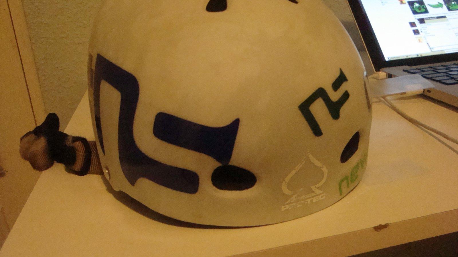 Helmet sticker job 2