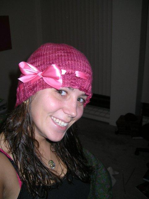 Pink hat!