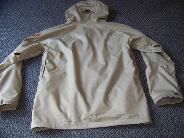 Back of ski jacket