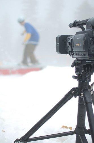 Camera Man and His Baby