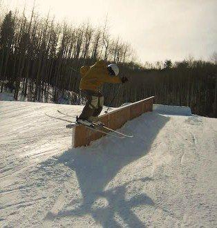 Old rail slide at b-milk
