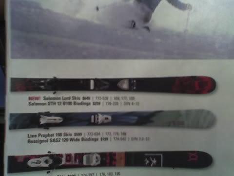 Ski mounted wrong way