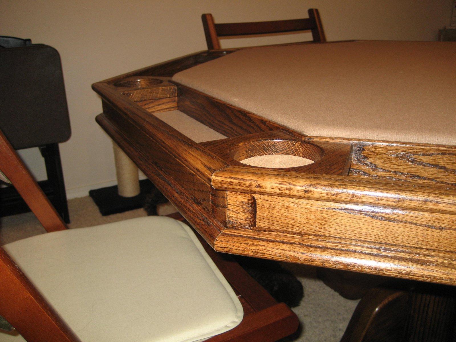 Poker table corner details