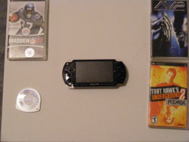 PSP... With 4 games offer up dont know price
