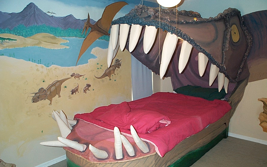 Dinosaur Head Bed