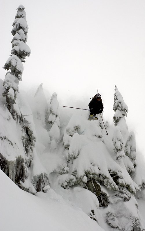 Old Man drop at Mt Baker