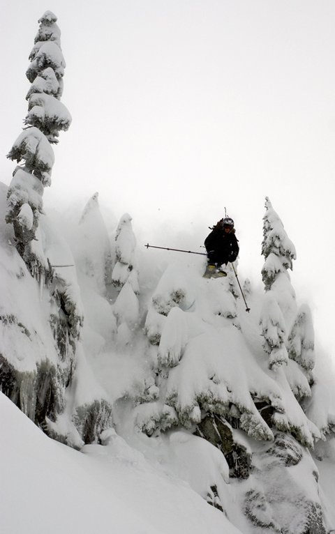 Old Man drop at Mt Baker