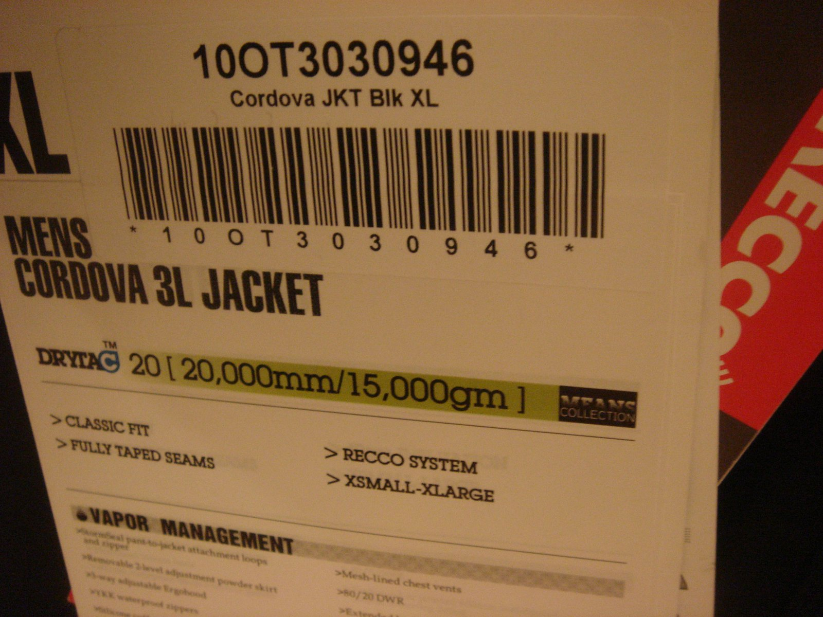 Tag jacket