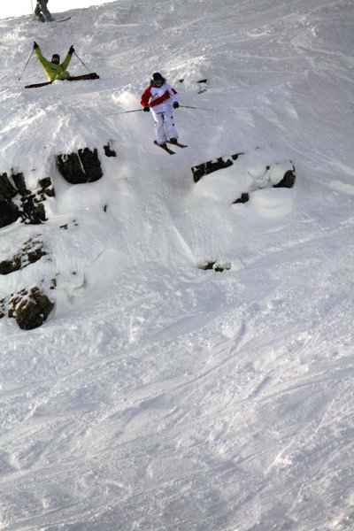 Headwall cliff