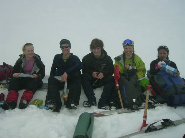 Some great guys on a trip in the winter mountains