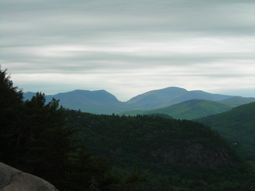 Franconia Notch from cathedral ledge