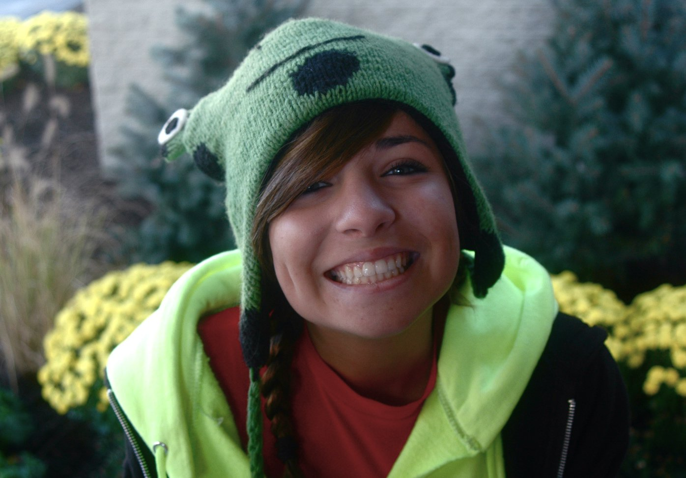 My frog hat. [: