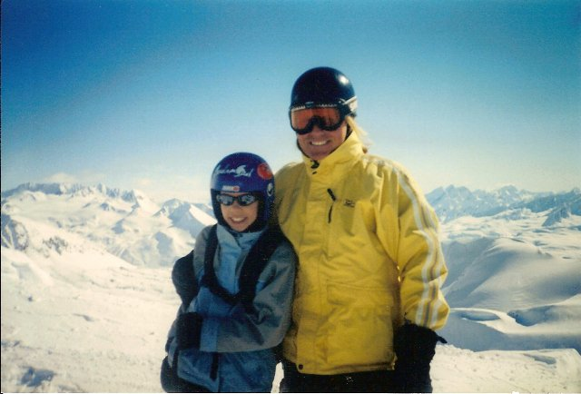 My dad and I my first Heli Skiing Adventure