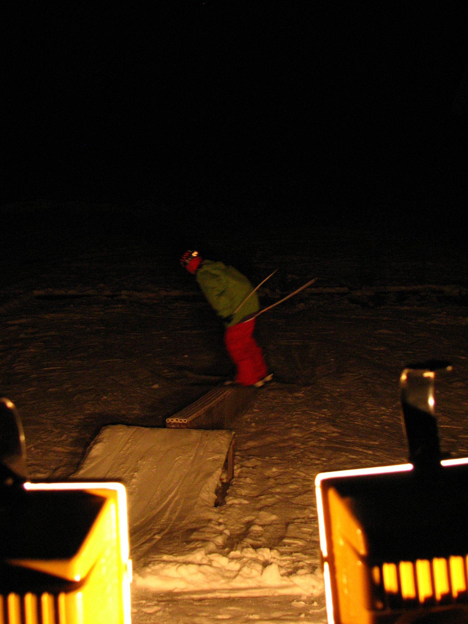 Skiin at night