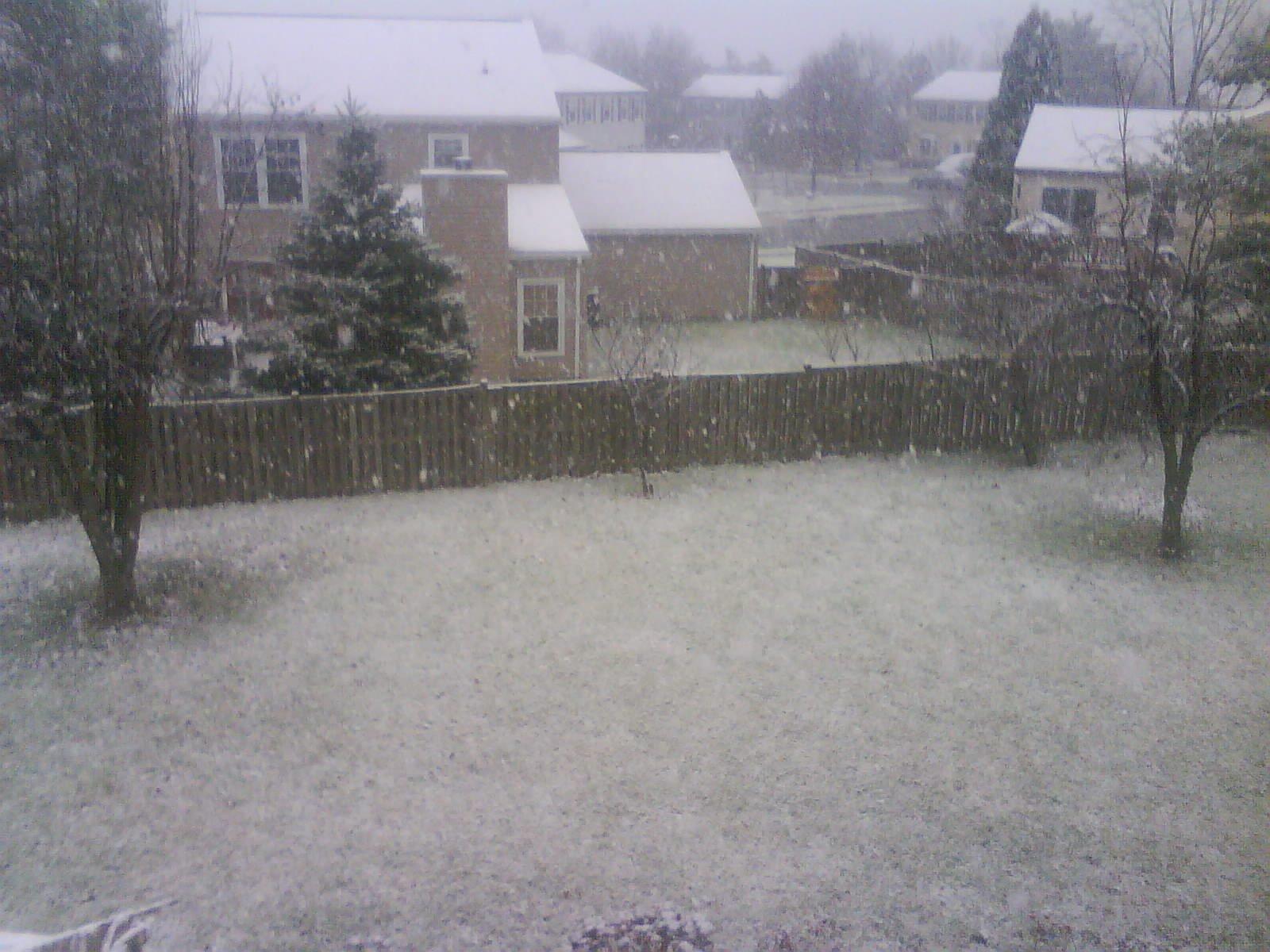 Snow in VA on dec.5th