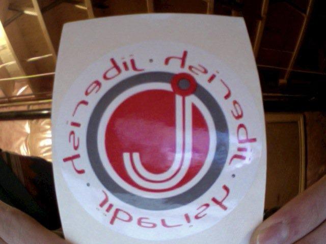 Oldschool jiberish sticker
