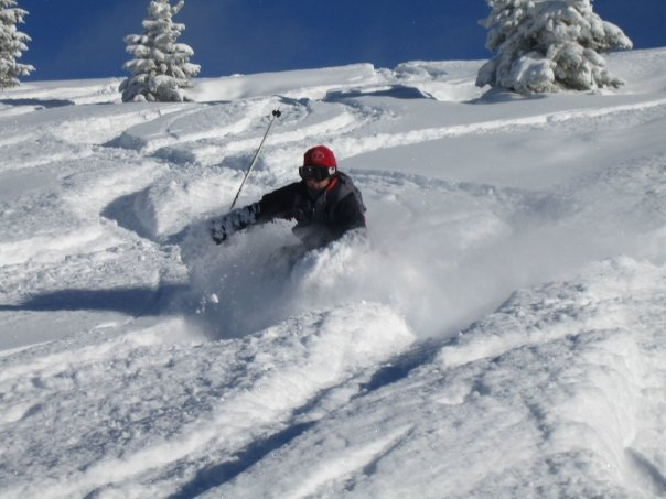 Pow in vail's game creek bowl