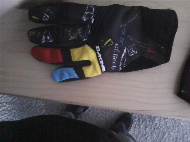 Dakine windells gloves. FS