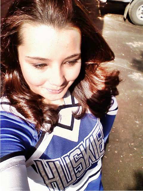 Me cheerleading