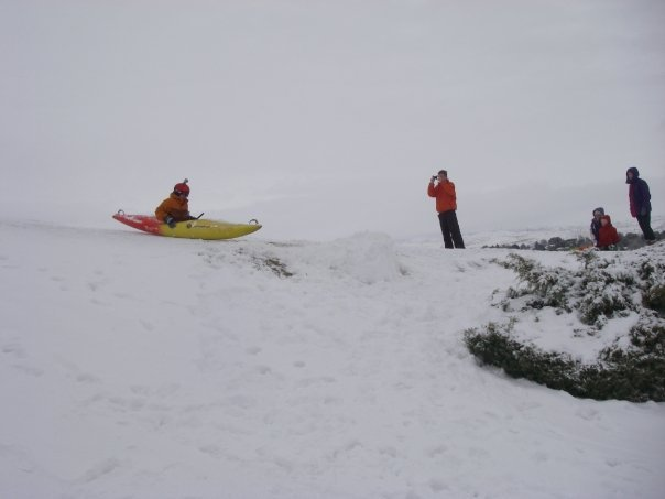 Snow Kayaking
