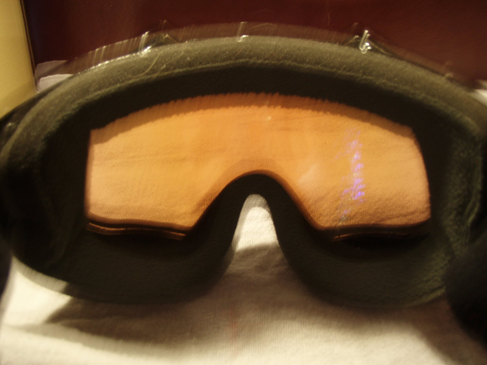 Sorry for the blurry pic- inside of the goggles
