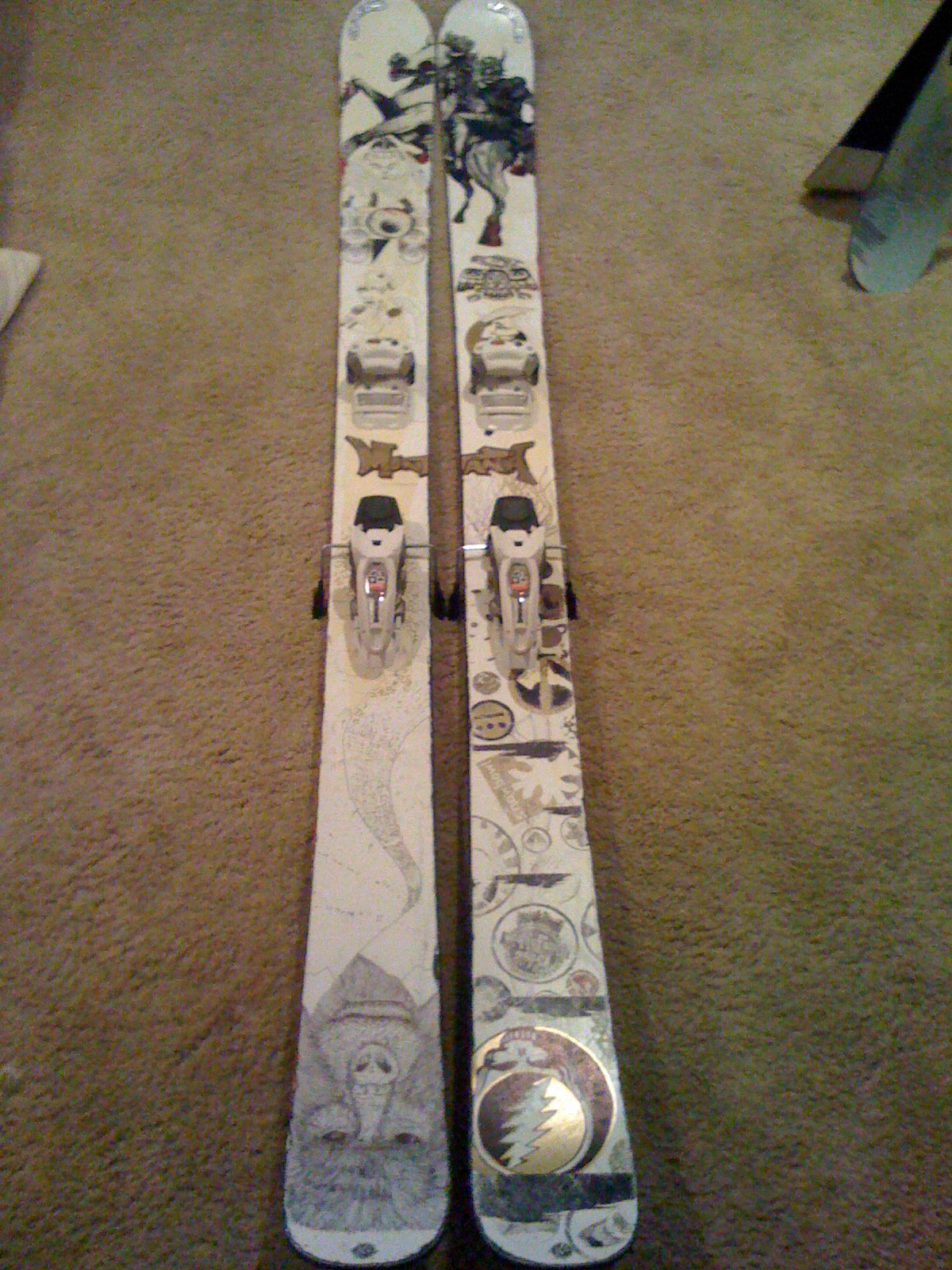 190cm K2 Hellbents with Marker Griffon bindings, custom