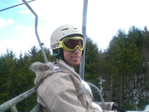 Chilling on lift.