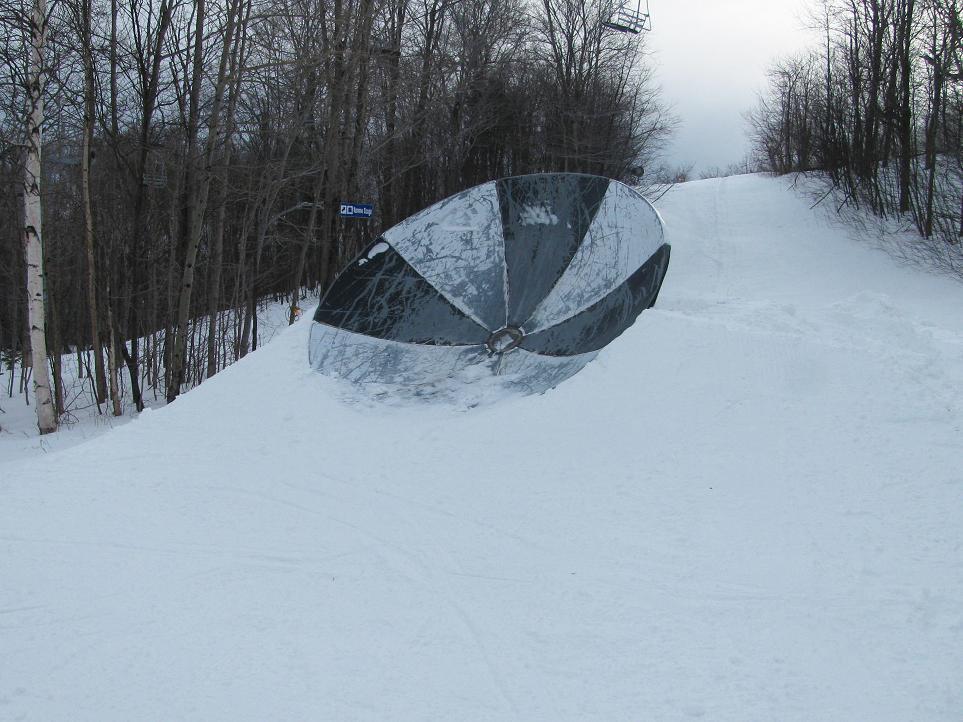Gulch satellite dish