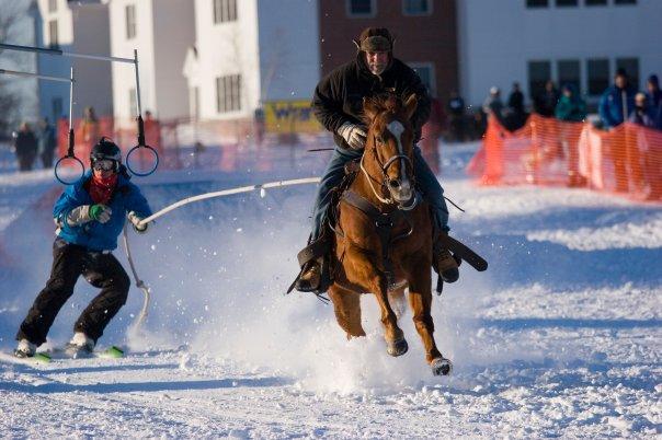 Ski Joring @ Colby sawyer college