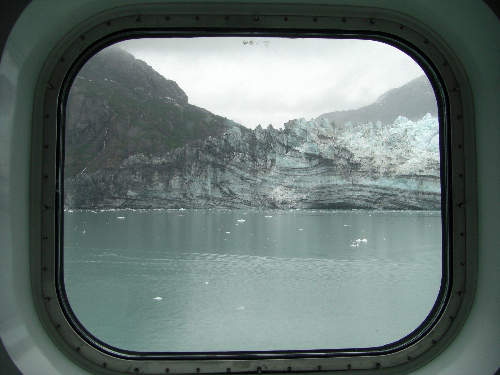 The glacier outside the window