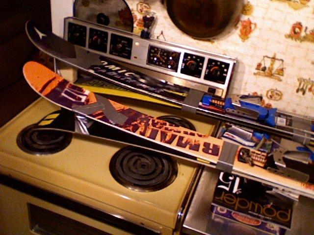 Homemade reverse camber skis