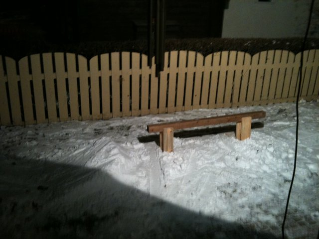 8 foot rail in my backyard what ever