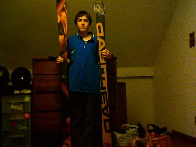 Me with my head skis