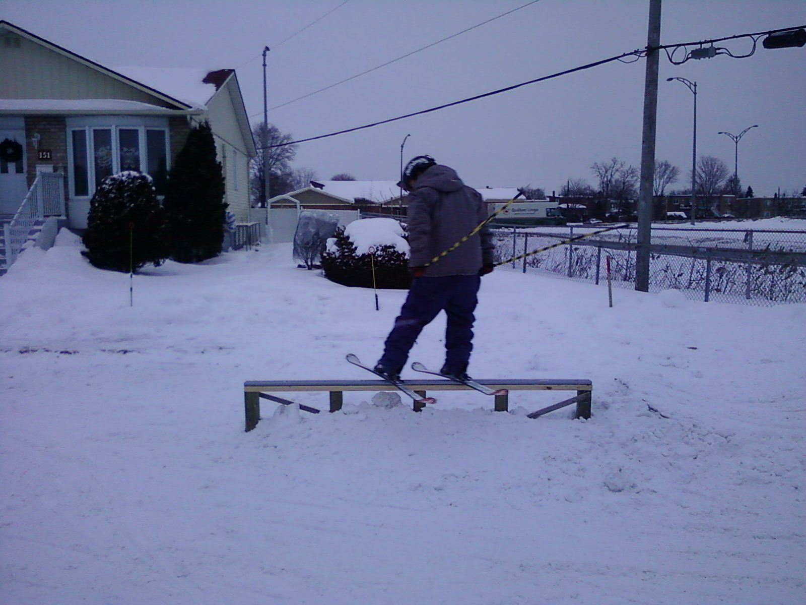 My first homemade rail