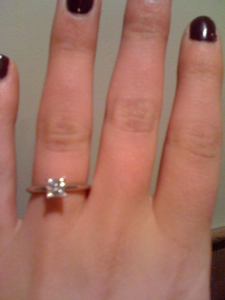Her ring, crappy phone pic