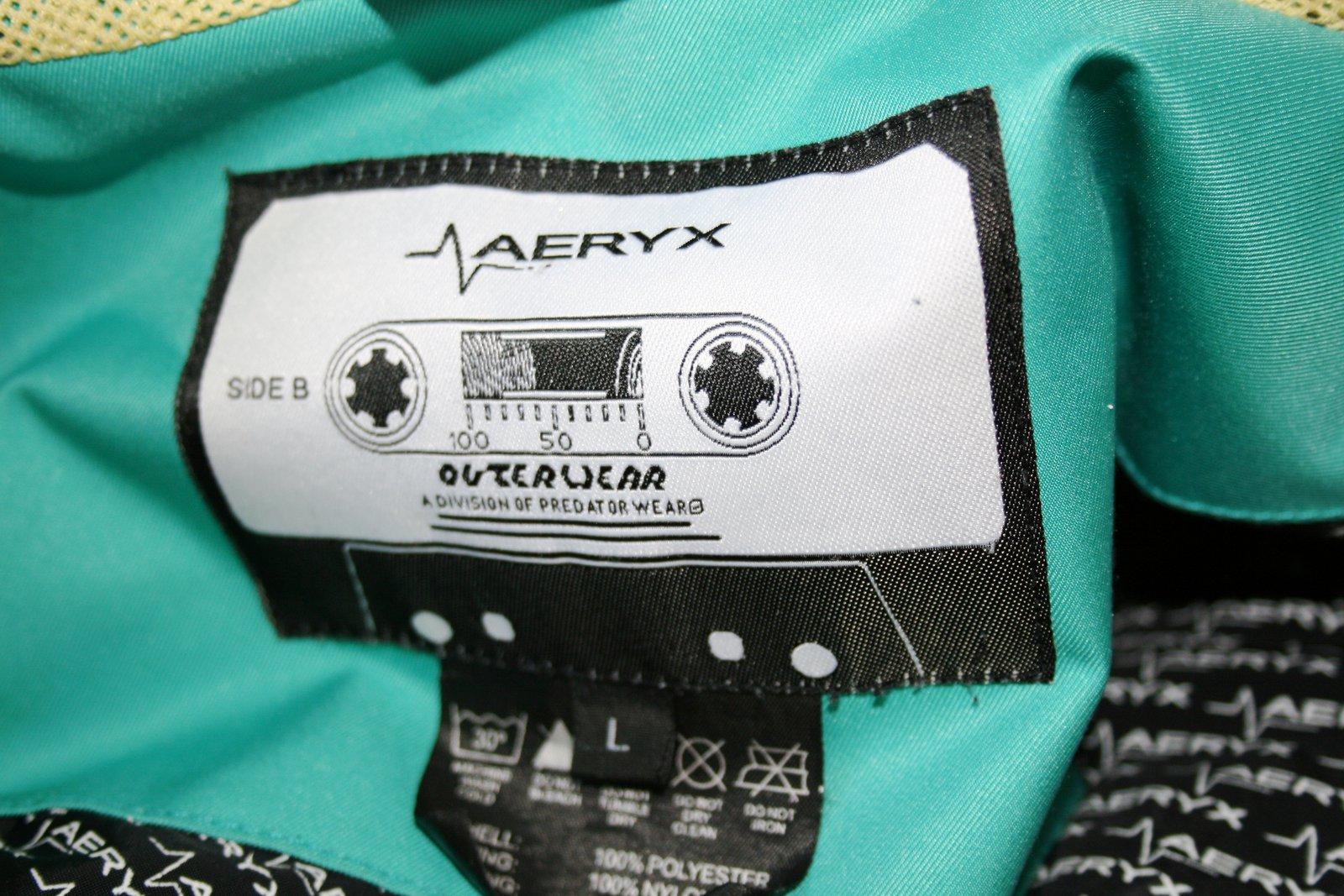 Aeryx Tag size Large .. so dope
