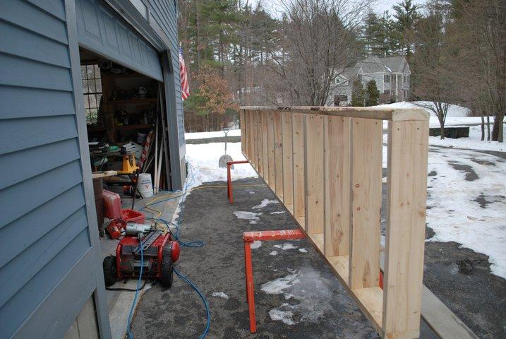 20 foot rail frame