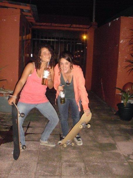 Wine and skateboardin