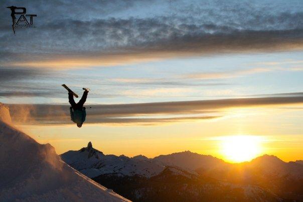 Sunset shoot Backflip